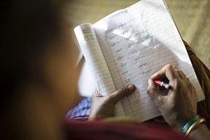 escritura en hindi