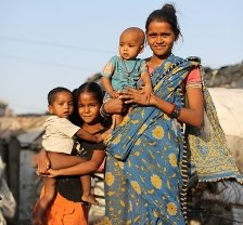 Familia en los 'slums'