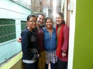 Rumpa, Laura, Soma y Belén, en una de las sedes de Semilla.