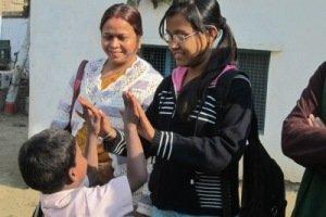Profesoras durante la visita