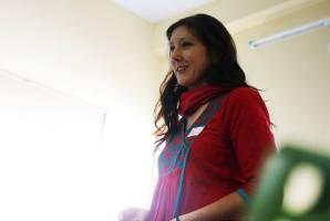 María Bodelón en el encuentro de ONGs en Varanasi
