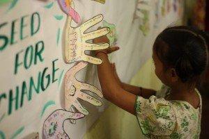 Los niños y niñas de Semilla unen sus manos para reivindicar sus derechos