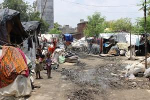 Slum donde viven Baisun y Marina, junto a otras 200 familias aproximadamente.