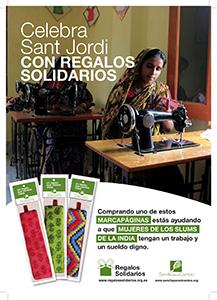 Rosas y marcapáginas solidarios para celebrar la Diada de Sant Jordi