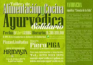 Taller de alimentación ayurvédica en A Coruña a favor de Semilla para el Cambio