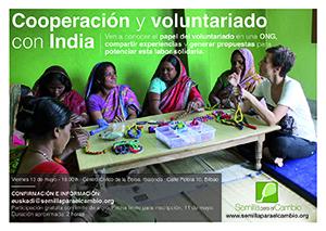 Semilla organiza la charla Cooperación y voluntariado con India' en Bilbao