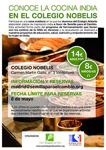 Cena india a favor de Semilla en el Colegio Nobelis de Valdemoro