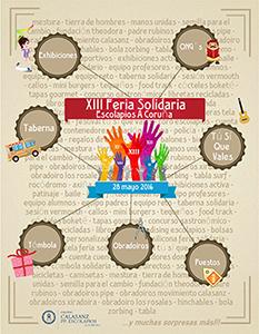 Ferias y acciones solidarias en A Coruña, Vigo, Madrid y Barcelona este fin de semana