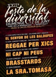 Un año más, estaremos en la 'Festa de la Diversitat' de Hospitalet de Llobregat