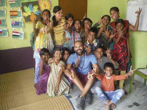 David Rodríguez, voluntario en el Programa de Edudación de Semilla para el Cambio. Varanasi