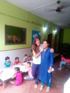 Ángeles Martín fue voluntaria del proyecto de Educación, en el centro de Dashashwamedh, en Varanasi.