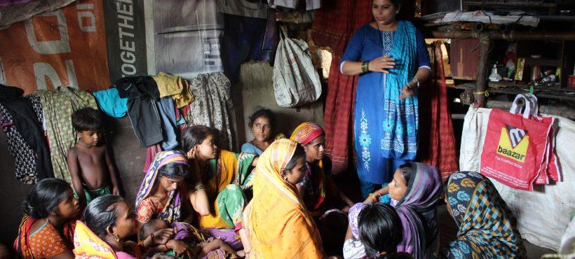Celebramos la Semana Mundial de la Lactancia Materna con una reunión informativa con las madres de los slums