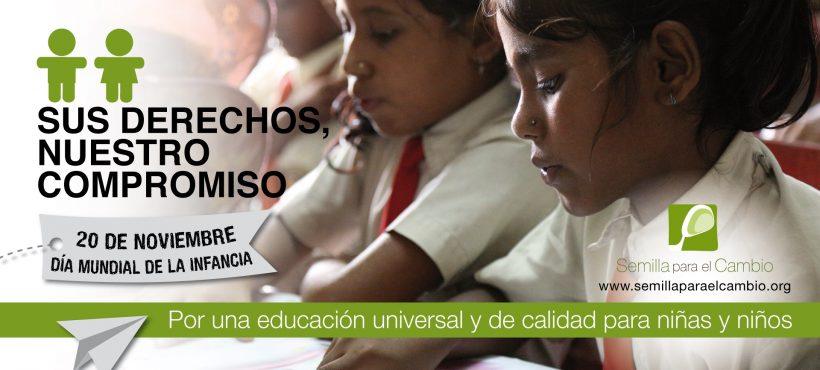 Reivindicamos el derecho a la educación en el Día Mundial de la Infancia