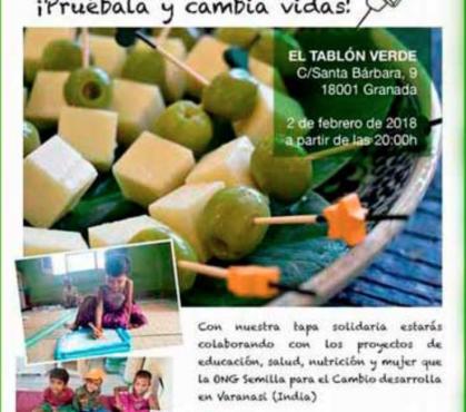 Tapa solidaria en Granada