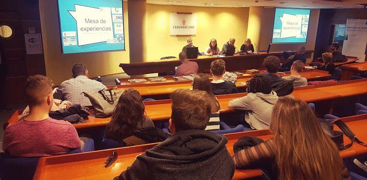 Una charla sobre voluntariado para los alumnos de la Cámara Bilbao University Business School