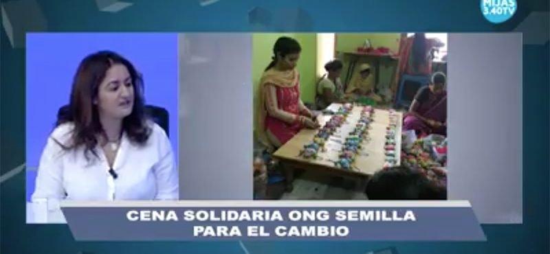 Cena solidaria de Semilla en Mijas TV