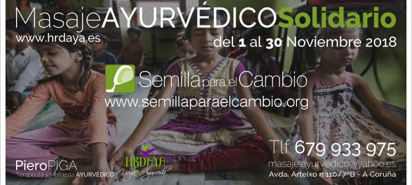 Masajes ayurvédicos solidarios en A Coruña