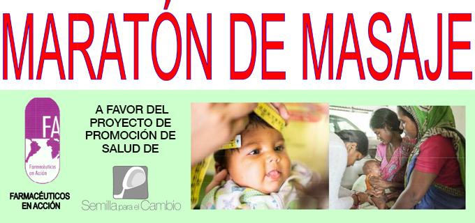 Farmacéuticos en acción organiza un Maratón de masajes en Madrid a favor del proyecto de Promoción de Salud de Semilla