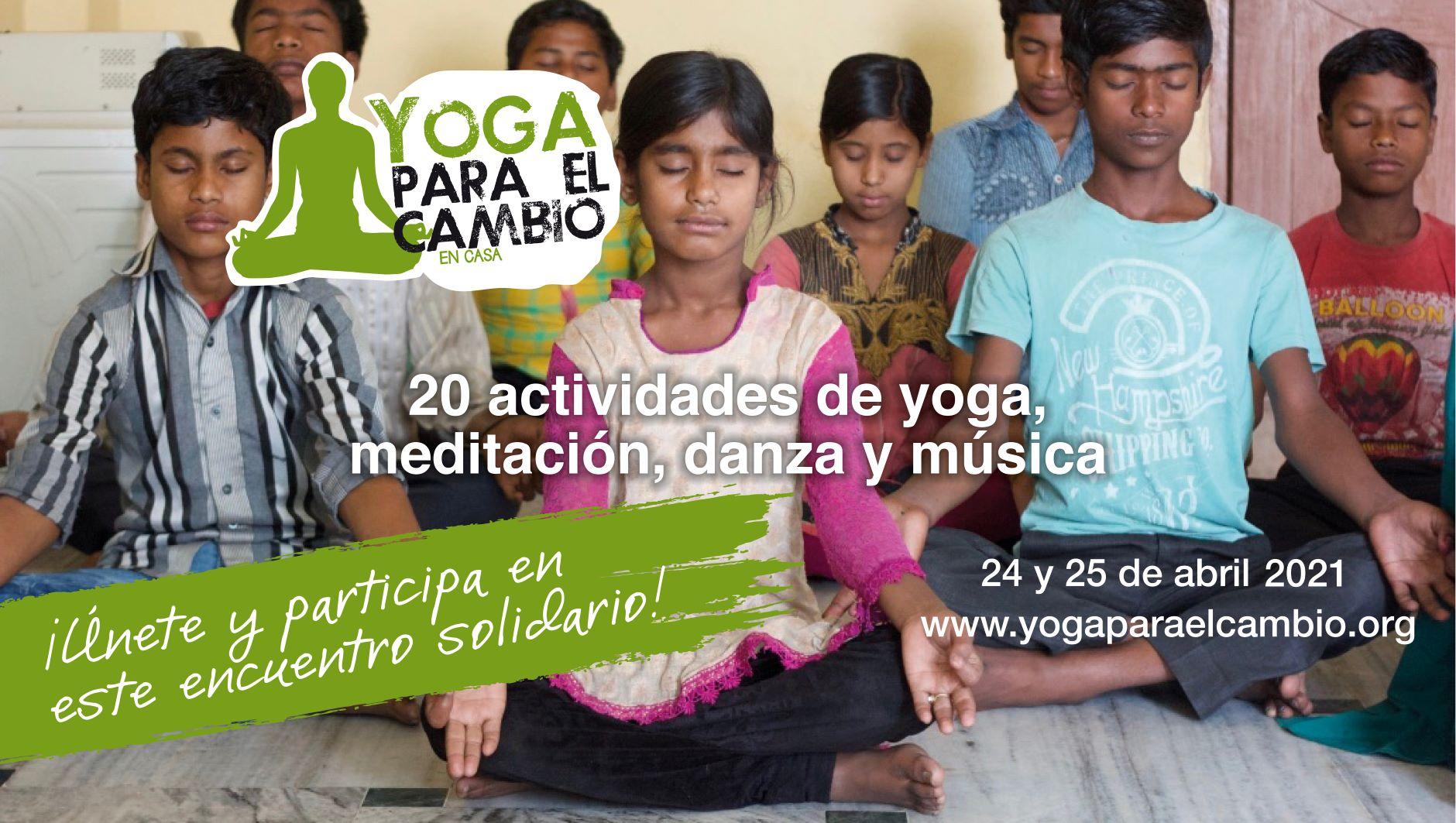 Banner Yoga para el Cambio En Casa 2021