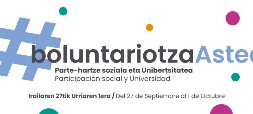Semilla vuelve a la Semana del Voluntariado en Euskadi